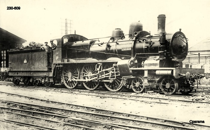 Carte postale : La locomotive 230-609